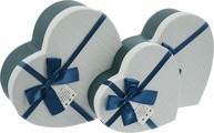 Подарочная упаковка, голубой, 3 шт