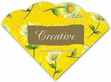 Салфетки бумажные Aster Creative round Солнечная ромашка, 3-слойные, 12 шт