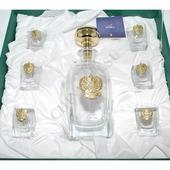 Chinelli Набор для водки на 6 персон с позолоченным гербом 6963