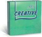 Салфетки бумажные Aster Creative, зеленый, 3-слойные, 36 х 33 см, 20 шт
