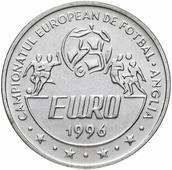 Монета Румыния 10 лей 1996 Чемпионат Европы по футболу - Англия P150000