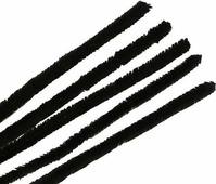 """Синель-проволока """"Астра"""", цвет: черный, 1,2 х 30 см, 15 шт"""