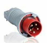 Разъемы силовые 463 P6W Вилка кабельная 63A, 3P+N+E, IP67 ABB