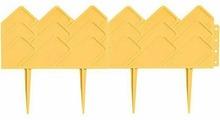 """Бордюр садовый Palisad """"Кантри"""", цвет: желтый, 14 см х 3,1 м"""