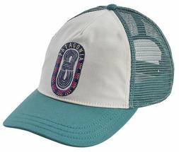 Бейсболка Patagonia Paper Peaks Badge Layback Trucker Hat женская белый ONE