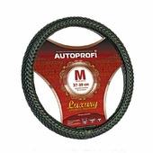 """Оплетка руля Autoprofi """"Luxury AP-800"""", плетеная, цвет: черный. Размер M (38 см). AP-800 BK (M)"""
