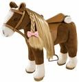 Gotz Мягкая игрушка Коричневая лошадь с расческой
