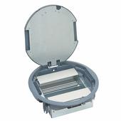 Коробка напольная круглая с вертикальным размещением суппортов, фиксированные, пластик, 12 модулей. Цвет Серый. Legrand (Легранд). 088127