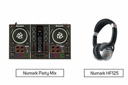 Numark Party Mix + Numark HF125
