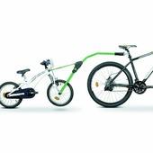 Прицепное Peruzzo для буксировки детского велосипеда (green)