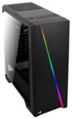 Корпус Aerocool Cylon Black RGB (Miditower, ATX, USB3, Fan, Window)