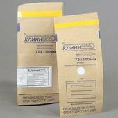 Крафт-пакеты КлиниПак с индикатором для стерилизации 75*150 мм, 100 шт.