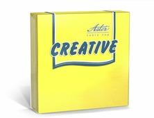 Салфетки бумажные Aster Creative, желтый, 3-слойные, 24 х 24 см, 20 шт