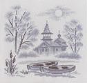 """Набор для вышивания крестом Panna """"Туман над рекой"""", 21 х 21 см"""