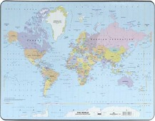 """Настольная подкладка-коврик для письма """"Карта мира"""""""