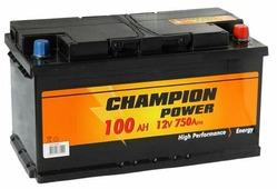 Аккумулятор для легковых автомобилей CHAMPION Power 100 A/h, 750A R+