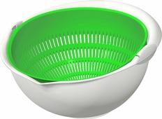 """Дуршлаг """"Idea"""", цвет: светло-зеленый, 11 х 24 х 22 см"""