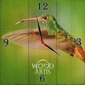 """Настенные часы """"На зелёном фоне"""""""