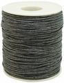 Шнур вощеный, на катушке, цвет: темно-серый, 1 мм x 100 м