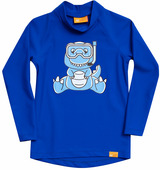Детская лайкровая гидромайка с длинным рукавом iQ Uv Shirt Dino Kids L/s Blue