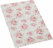 """Ткань для пэчворка Артмикс """"Розы, клетка и листочки"""", цвет: молочный, розовый, 48 x 50 см"""