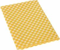 """Ткань для пэчворка Артмикс """"Клетка"""", цвет: желтый, белый, 48 x 50 см"""