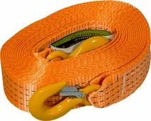 """Стропа буксировочная """"KennyМастер"""", с крюками, цвет: оранжевый, 6 т, 7 м"""