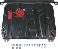 Защита картера и КПП Автоброня для Hyundai Solaris 2011-2016/Kia Rio 2011-2017, сталь 2 мм, с крепежом. 111.02343.1