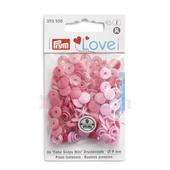 Непришивные кнопки «Color Snaps» розовые 9 мм Prym Love 393500