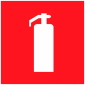"""Наклейка знак пожарной безопасности Rexant """"Огнетушитель"""" (100х100 мм) {56-0050}"""
