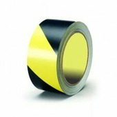 Лента для разметки самоклеящаяся Vell длина 33 м, ширина 50 мм, желто-черная, 0,15 мм, ПВХ (Standart)