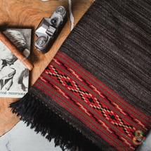 Himalaya shawls valley Большой шерстяной шарф Dark Grey Melange Folk