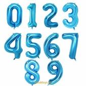 Шар гелиевый цифра - 'Синяя' 40'' (85 см.)