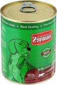 """Консервы для собак Четвероногий гурман """"Мясное ассорти"""", с говядиной, 340 г"""