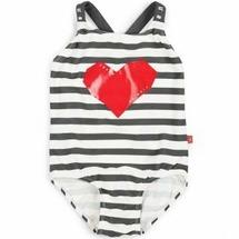 Happy Baby Купальник для девочек, размер 98-104 - полосатый