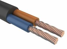 Провод силовой ПВС 2х0,75 мм², Rexant, черный, ГОСТ {01-8031-4} (200 шт.)