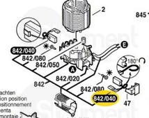 щетки угольные (10шт) GSH4,5 [1617014122] BOSCH 1607000497