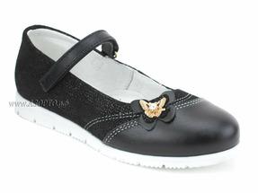 43164 ШагоВита, туфли, черн, кожа, велюр с покр, 1липа