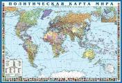 Политическая карта мира с флагами Крым в составе РФ