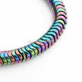 Бусина Гематит, 6 мм, Круглая Волнистая, Разноцветная