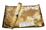 Карта мира А2 со стираемым слоем (650*450мм) в тубусе