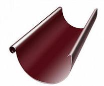 Желоб водосточный Grand Line Optima 125/90, полукруглый, 3м, красный