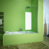 Шторка на ванну Gutewetter Lux Pearl GV-601A 80x160 (золото металлик)