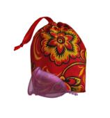 Менструальная чаша LilaCup, Размер S, Цвета фуксия, с мешочком для хранения
