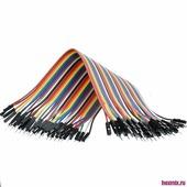 TK0838 Dupont плоский монтажный кабель 40-линий M-M/F-F/M-F (Тип Разъема-Папа-Папа)