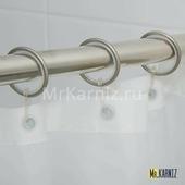 Кольца для штор Grande Серебро