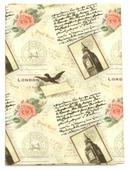 """Ткань Кустарь """"Путешествие в Лондон №1"""", 48 х 50 см. AM573001"""