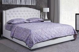 Кровать Vegas Барокко 200x200, экокожа, п/м основания