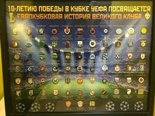 Набор значков ЦСКА к 10-летию победы в Кубке УЕФА 40х50 см