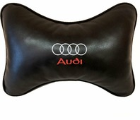 """Подушка на подголовник Auto Premium """"Audi"""", цвет: черный, 37803"""